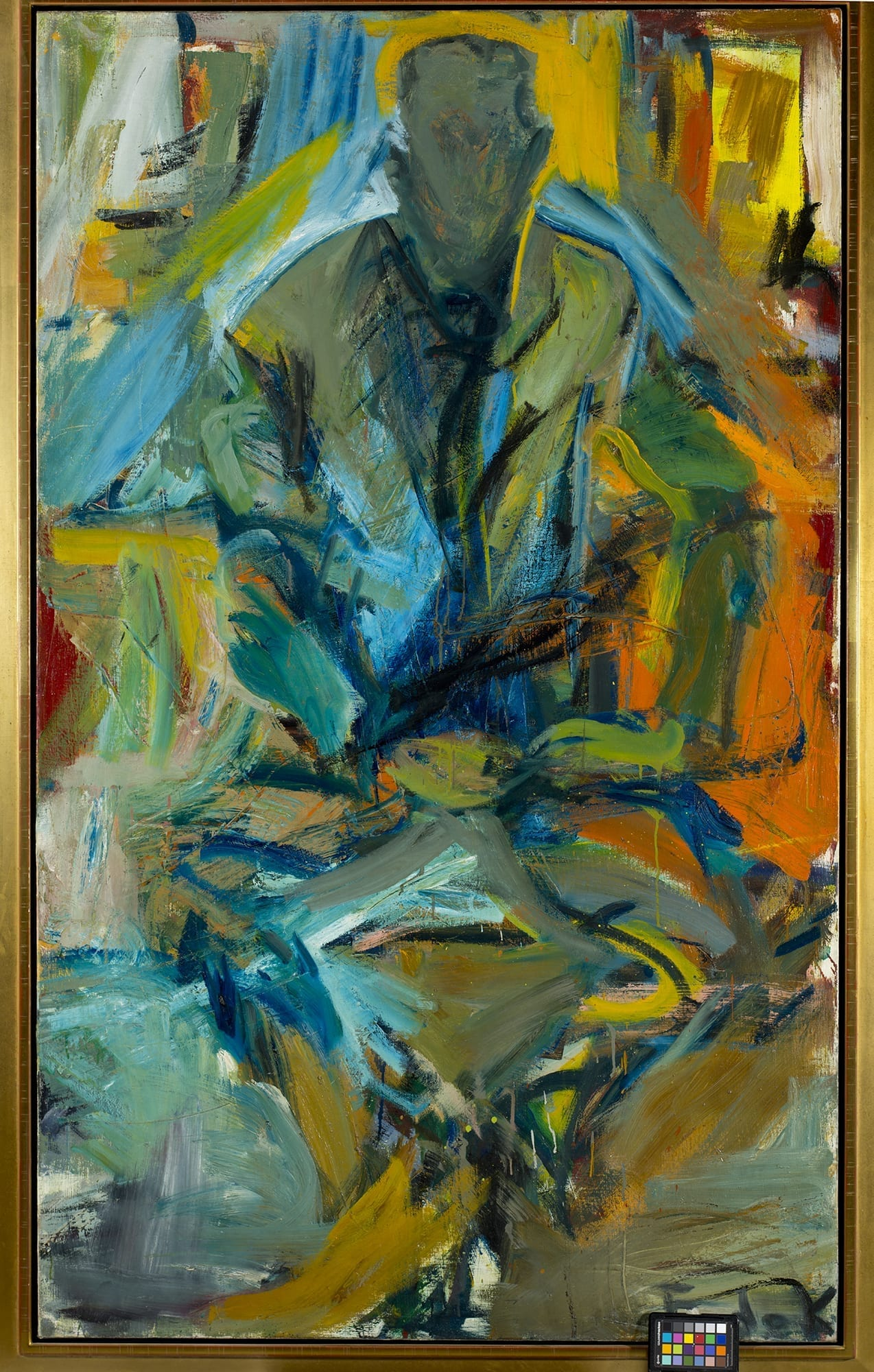 bill at st  mark u0026 39 s  elaine de kooning  1956  oil on canvas  72x44 u0026quot